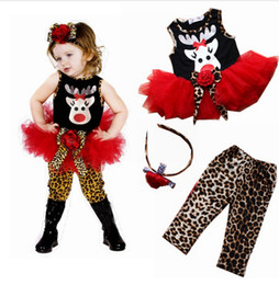Wholesale Tutu Tight Baby Girl - Christmas Baby Suits Girls' Clothes tutu dresses Headbands T-shirts Tights Leggings pant Tees Trousers Children's Outfits Sets