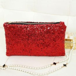Wholesale Sequin Glitter Wallet - Free Shipping Women Wallets Purse Brand Wallet Bling Sequins Envelope Clutch Evening Party Tote Dazzling Decor Dating bags AA5