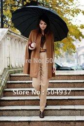 Wholesale New Celebrity Gossip - Wholesale-Free shipping-New Fashion Gossip Girl Celebrity Cape Dress  Women's Wool Coat Lady Poncho Sleeveless Outwear 0010