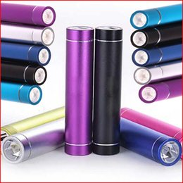 Wholesale Cheap Power Packs - Cheap 2600mAh Portable Cylinder Power Bank External Backup Battery Charger Emergency Power Pack for all Mobile Phones, Travel Banks Chargers
