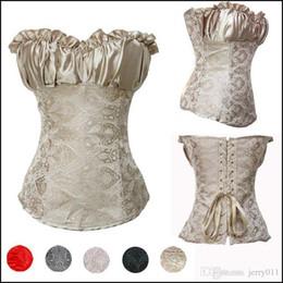 Wholesale shape lingerie - Women Body Shape Corpete Corselet Gothic Corsage Plus Size S-6XL Lingerie Sexy Corpetes e Espartilhos Waist Training Corsets Top