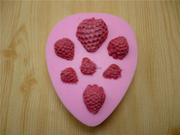 Wholesale Strawberries Soap Molds - Strawberry Silicone Mold Soap,Fondant Candle Molds,Sugar Craft Tools, Chocolate Moulds,Silicone Molds For Cakes