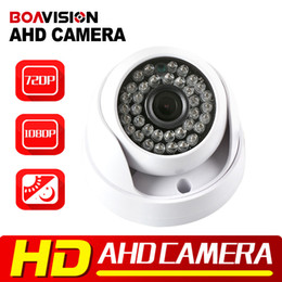 Wholesale Cctv Dome Ir - New Arrival 1MP 2MP 720P 1080P Mini HD CCTV AHD Camera Indoor Small Dome Security Video Surveillance,IR 20M Night Vision 3.6mm lens
