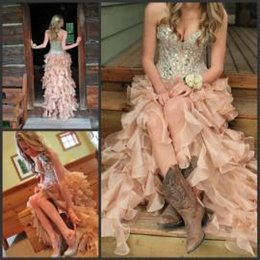 Wholesale High Low Corset Prom Dress - 2015 Hi-Lo Prom Dresses with Corset Bodice Sweetheart Cocktail Dresses Sexy High Low Party Prom Dresses with Crystals Rhinestones Beading