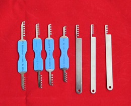 Wholesale Comb Picks - Good Quality GOSO 7pcs Comb Pick Set Locksmith Tool lock picks tools for doors lockpick lock picking bump key