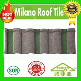 Wholesale Roofing Material Tile - heat resistance building material milano type stone coated steel roof tiles