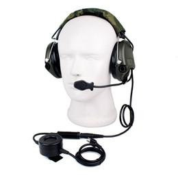 radios tácticas Rebajas Nuevo Tactical H60 Reducción de ruido Auriculares Cancelación de ruido Elemento electrónico de recogida para icom 2 vías Radios C2101A