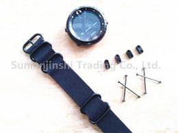 Чёрный ремешок для часов нейлон 24mm онлайн-Для Suunto Core Watch Band черный 24 мм тактический нейлон НАТО Zulu 5-Кольцо ремешок +адаптеры+ ушки Бесплатная доставка - 069