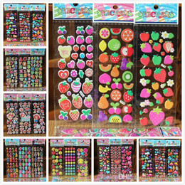 Wholesale Kids Sticker Sheet Car - 55 Sheets lot 3D Puffy Bubble Stickers Mixed Cartoon Cars Waterpoof DIY Children Kids Boy Girl Toys for Children