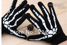 Wholesale Black Fingerless Biker Gloves - Wholesale-guantes gloves men luvas Fashion PU Leather Skull Punk Black DRIVING Motorcycle Biker Fingerless Tactical Gloves 2015 quality