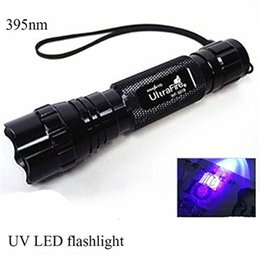 Wholesale ultraviolet lighting - 3W WF-501B CREE UV LED Flashlight Purple Light UV 395-410nm Ultraviolet Flash Torch Lamp Portable Lantern Linternas Money Stain Detector