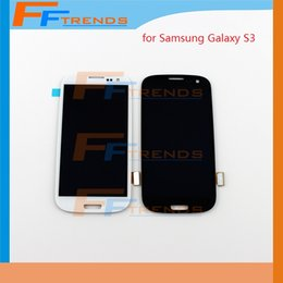 Wholesale S3 White Screen Replacement - White Blue Original LCD For Samsung Galaxy S3 i9300 i9305 L710 R530 i535 T999 i747 with Screen Display Touch Digitizer Assembly Replacement