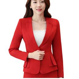Wholesale Ladies Feminine Clothing - Elegant Business Formal Office Blaser Suits Wear Women Long Sleeve Feminine Blazer Clothing Ladies Vogue Top Plus Size S To 5XL