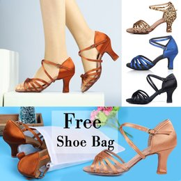 Wholesale Dance Shoes For Ladies - Wholesale-Great Discounts&Coupons!! Promotion Price! Popuplar High Quality Latin Dance Shoes for Women Ladies Girls Tango&Salsa