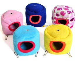 Wholesale Pet Rat Houses - Small Cute Pet House For Hamster Animal Warm Soft Rat Kennel Mix Color 2 Size Min Order 30PCS