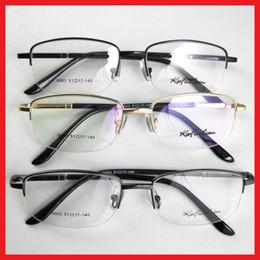 Wholesale Demo Lenses - Brand New Glasses Eyewear Eyeglasses For Men Women Halfrim Frame Metal Spectacles Optical Clear Demo Lenses Oculos Shield Spring Temples