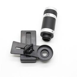 Мобильный телескоп онлайн-Wholesale-Free Shipping Mobile phone Camera Lens 8X Telescope Mobile Zoom Telephoto for  5 6 for  Galaxy S Smartphone JT03