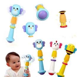 tambores de brinquedo chineses Desconto Apaziguar Cognição Sinos de mão Gengivas Puzzle Baby Toy BB bar Parenting