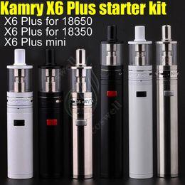 Wholesale Vape Mods Body - 100% Authentic Kamry X6 Plus & mini Mechanical Mod Starter Kit Steel body fit 18650 18350 Battery e cigarette vape Mods Sub RDA Vapor DHL