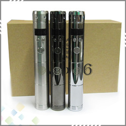 Wholesale Electronic Cigarettes Lcd - Vamo V6 Kit Vamo V6 VW Mod Wattage 3W-20W with LCD Display Electronic Cigarette Starter kit Chrome Black Stainless steel 3 Colors