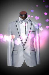 Wholesale Leisure Suit Pictures - 2015 High quality groom tuxedos wedding suit for men men's leisure suit men's suits groom wedding dress (Jacket+Pants)