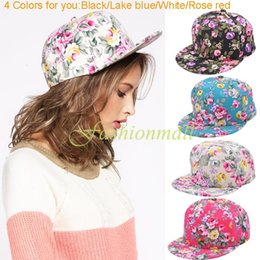 Wholesale Headwear Styles - Wholesale-New Hiphop Fashion Snapbacks Floral Flower Adjustable Fitted Headwear Baseball Cap Men & Women Snap Back Style Hats 35