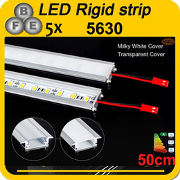 barre di luce rigide led Sconti Commercio all'ingrosso-5pcs 50cm DC 12V 36 SMD 5630 LED Hard rigido a LED Strip Light Light With U Shell in alluminio + copertura PC