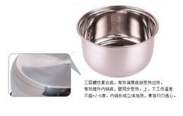 Wholesale Stainless Steel Ice Buckets - 3L multifunctional stainless steel bright round ice buckets beer barrels three layers of the bottom,21*H11.3cm