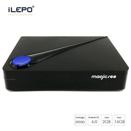 Wholesale Dvb Tv Box - Android tv boxes Magicsee C300 DVB S2 T2 C 2GB 16GB DVB-T2 DVB-S2 DVB-C Android 6.0 Amlogic S905D 4K Smart TV Box CCcam IPTV