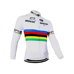 Wholesale Uci Winter Jersey - Wholesale-WINTER FLEECE THERMAL 2015 ETIXX QUICK STEP PRO UCI Ropa Ciclismo ONLY Long Sleeve Cycling Jersey Bike Bicycle Wear Size XS-4XL