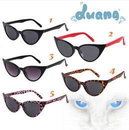 Wholesale Sexy Free Women Men - Women Sunglasses New Retro Cateye sunglasses Lady Vintage Sunglasses Sexy Modern lady sunglasses brand designer Sunglasses Free ship D114 30