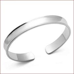 Étnica vintage pulseira de prata on-line-Top atacado 925 encantos de jóias de prata esterlina étnica casamento do vintage Vela côncavo suave pulseira pulseira brilhante