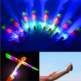Wholesale Wholesale Toy Stores - LED Amazing flying arrows helicopter fly arrow umbrella kids toys LED Flying Toys free shipping from kakacola store