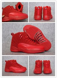 Wholesale Bonds Discount - Wholesale With High Quality Cheap New Air Retro 12 XII Basketball Shoes Fashion Men Women Discount Retro XII 12 Sneakers Red Suede Shoes