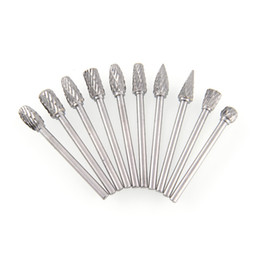Wholesale Ship Center - Quality 10 in 1 Set 6mm Grinding Head Tungsten Carbide Burr for Rotary Drill Set Free Shipping, dandys