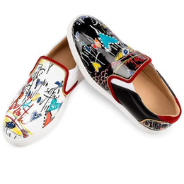 Wholesale Graffiti Hard - Real animal leather Toe Casual Flats Graffiti Red Bottom Luxury Shoes New Women Party Designer Sneakers Famous Brand Casual shoes 1180250
