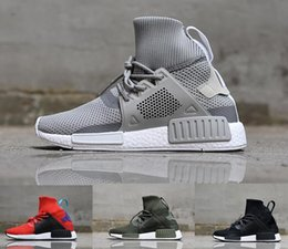 Wholesale Womens Rubber Ankle Boots - New Arrival NMD XR1 Winter Boots Mans Women Racer Red Grey Black Green Ultra Boost ultraboost Primeknit Womens 12 Sneakers US 5-11