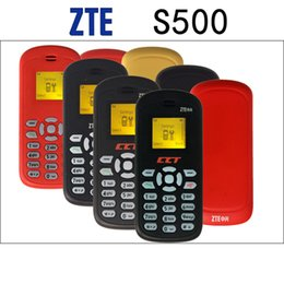 Wholesale Mini Sim Phone - Original Unlock GSM 2G ZTE S500 Cell Phone With 1.0Inch Screen GSM 900 1800 1900 Mini Mobile Phone Support English