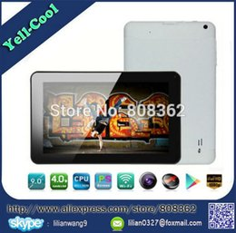 "Wholesale Allwinner A13 Cortex A8 - Wholesale-Hot Sale Top Quality Dual Cameras 9 inch Android 4.0 Allwinner A13 Tablet pc Cortex A8 512MB 8GB Capacitive Screen 9"" mini PC"