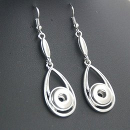 Wholesale Metal Fashion Jewelry Flowers - Hot Bohemian Water Drop Snap Earring DIY 12mm Ginger Snaps Women Fashion Gift Metal Snap Button Jewelry