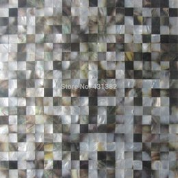 Wholesale Wholesale Mosaic Mirror Tile - Blacklip mother of pearl tiles;15X15; backsplash kitchen bathroom mirror tile backspalsh wall shell mosaics mother of pearl tile