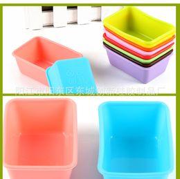 Il silicone muove il bambino online-Stampo per torta rettangolare in silicone Muffin Stampo per fondente in silicone per zucchero di cioccolato Torta di gelatina che decora Multi senza BPA