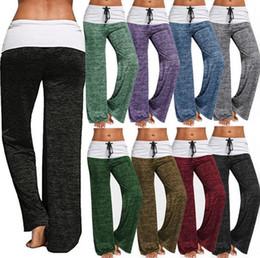 12c1ff67111e9 Pantalones de Fitness mujer Pantalones Anchos de pierna ancha Pantalones  Casuales Pantalones de moda Señora Loose Trousers Harem Sport KKA3553  rebajas ...