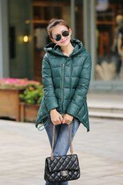Wholesale Cotton Skirt Clothing - Wholesale-Winter coat of the new 2015 show thin a word irregular skirt short cotton-padded clothes women quilted jacket