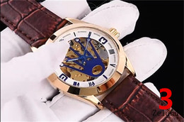 Wholesale Leather Folding Mirror - Swiss top brand luxury Men's Watches R00X6 exquisite belt automatic machine movement mineral super mirror high quality luxury Wristwatches
