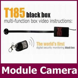 Wholesale mini hd camera module - Motion detection Wireless remote control HD 720P H.264 Camera Module Board camera Button mini Camera DIY Camera Mini DVR T185 retail box