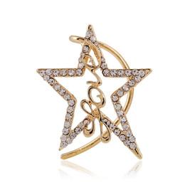 Wholesale Love Screw Earring - Romantic Star Cuff Earrings For Women Jewelry Gold&Silver Plated Created Diamond Crystal LOVE No Pierced Ear Cuff&Cuff Earrings