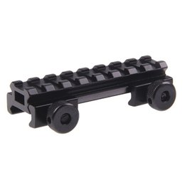 """Wholesale Picatinny Risers - Funpowerland AR Flat top 1 2""""inch See Through Riser Scope Rail Mount 8slot Picatinny Weaver M0078 Free Shipping"""
