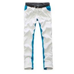 Wholesale Men Sport Jogging Pants - New Style Men Pants 2015 Spring And Summer Fashion Hit Color Slim Casual Trousers Gym Sport Jogging Pantalones Hombre ZHY1962