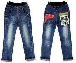 Wholesale Wholesale Jeans Pants - Wholesale-2016 New 3~10 years boys Classic jeans pants ling trousers 100% cotton Vintage jeans for boys kz004